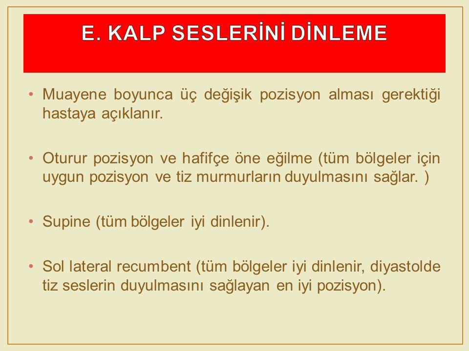 E. KALP SESLERİNİ DİNLEME