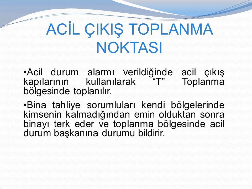 ACİL ÇIKIŞ TOPLANMA NOKTASI