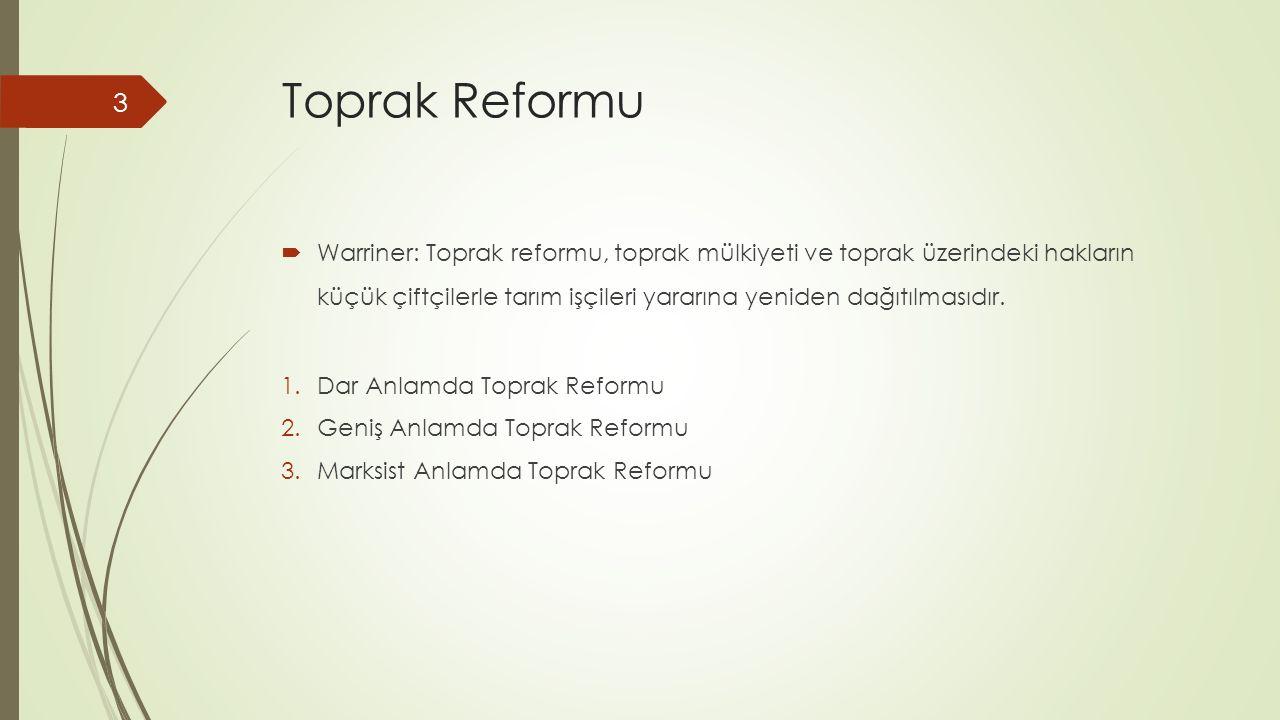 Toprak Reformu