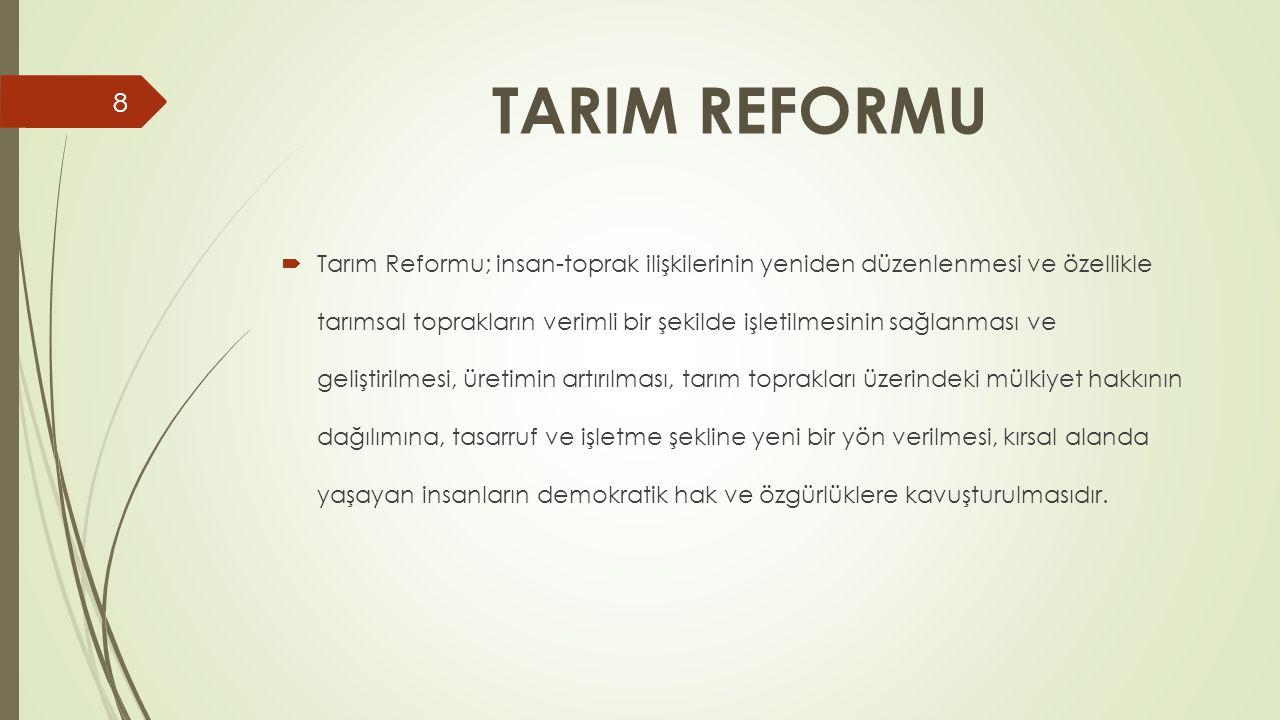 TARIM REFORMU