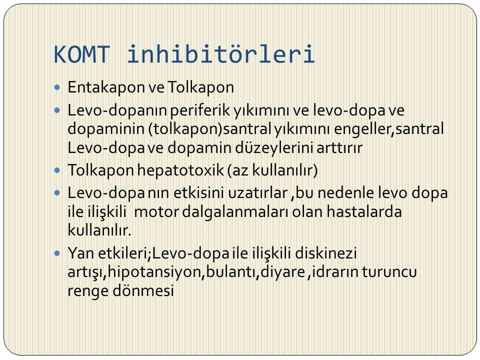 KOMT inhibitörleri Entakapon ve Tolkapon