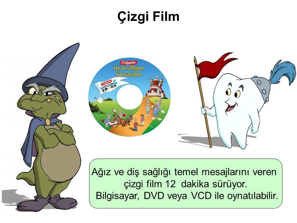 Çizgi Film Ağız ve diş sağlığı temel mesajlarını veren