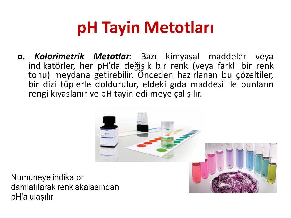 pH Tayin Metotları