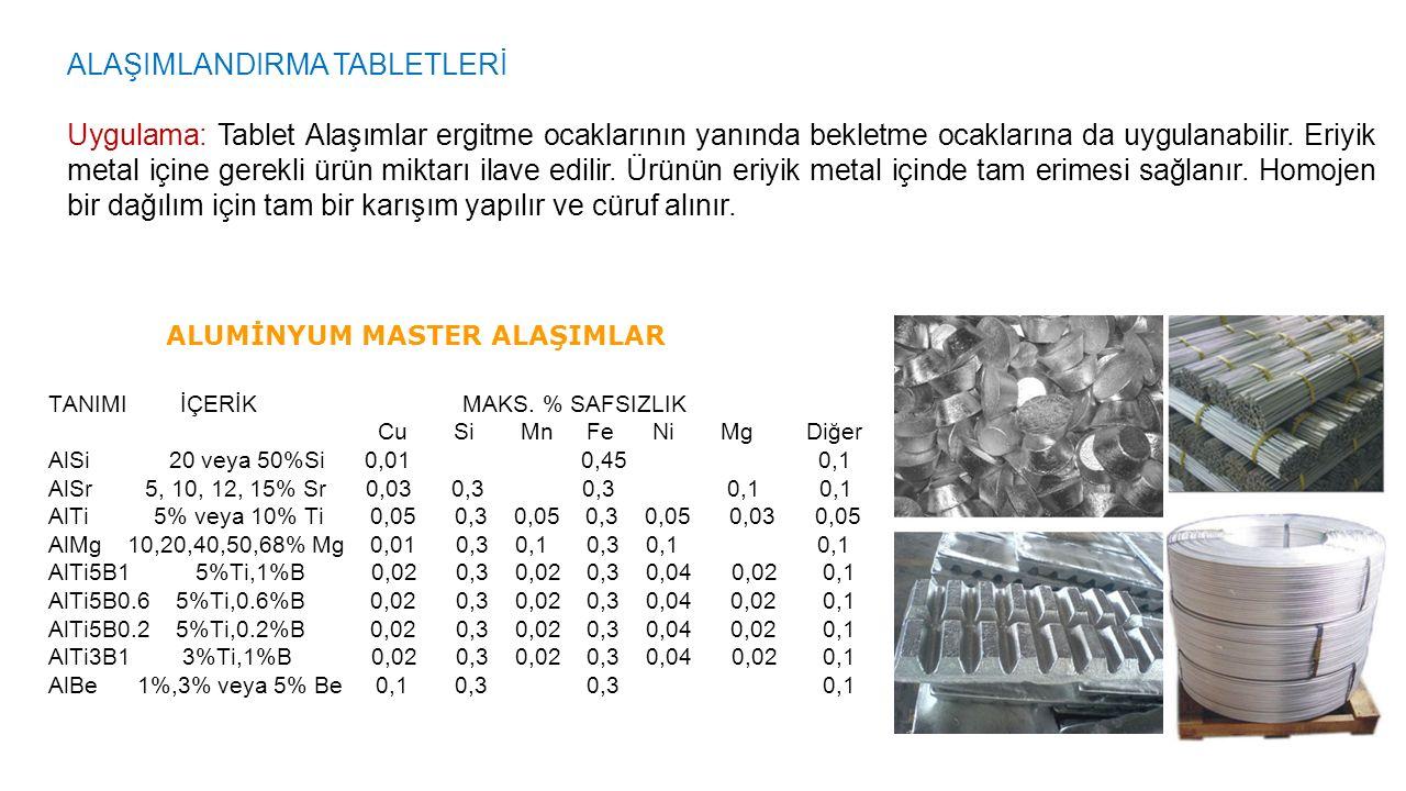 ALAŞIMLANDIRMA TABLETLERİ