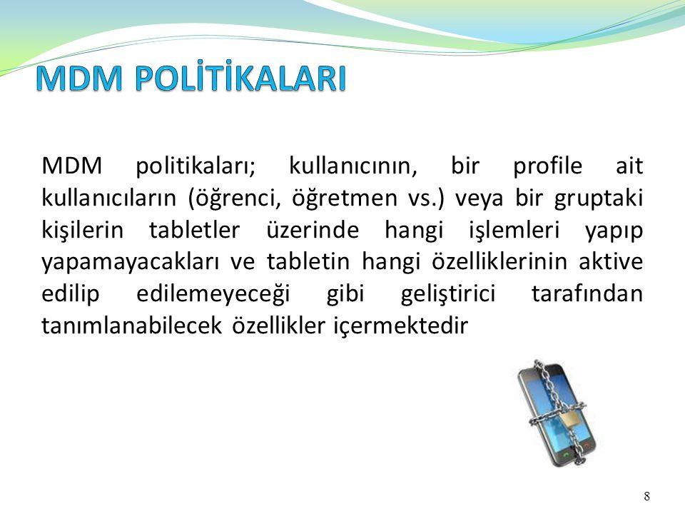 MDM POLİTİKALARI