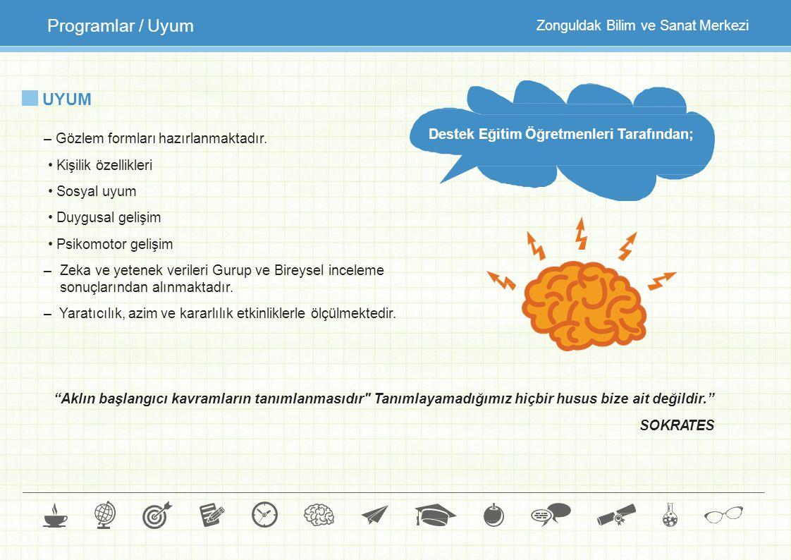 Programlar / Uyum UYUM Zonguldak Bilim ve Sanat Merkezi