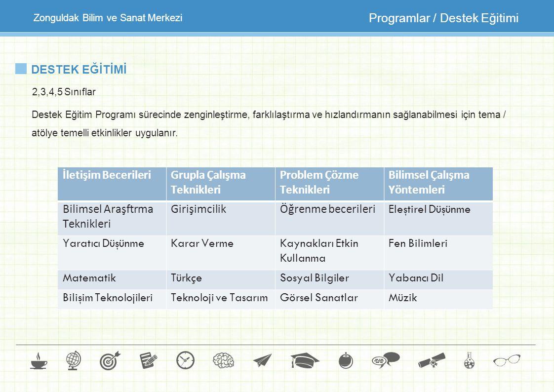Programlar / Destek Eğitimi