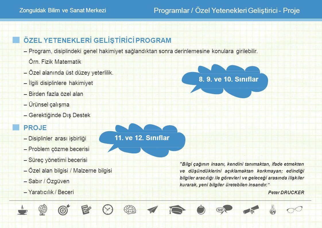 Programlar / Özel Yetenekleri Geliştirici - Proje