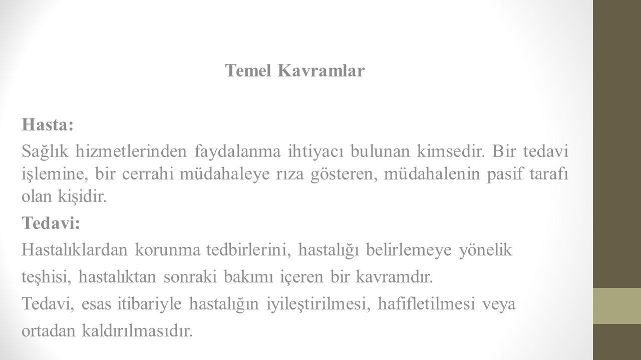 Temel Kavramlar Hasta:
