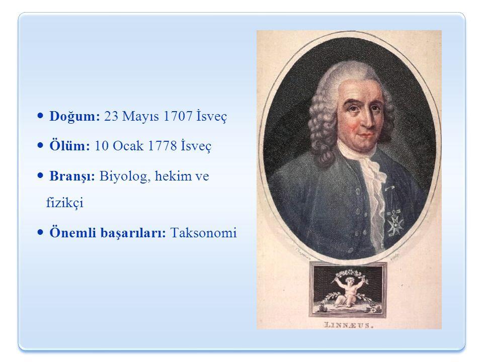 Doğum: 23 Mayıs 1707 İsveç Ölüm: 10 Ocak 1778 İsveç.