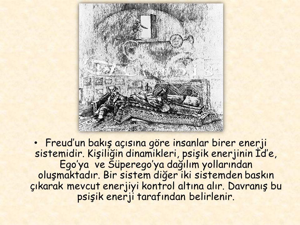 Freud'un bakış açısına göre insanlar birer enerji sistemidir