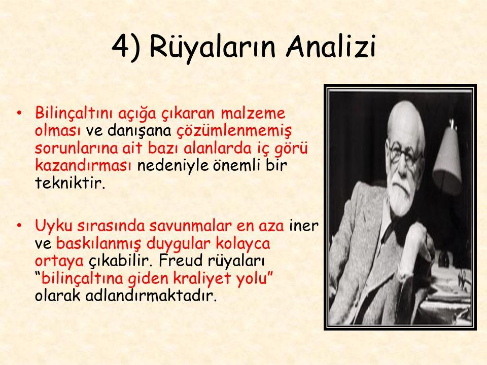4) Rüyaların Analizi
