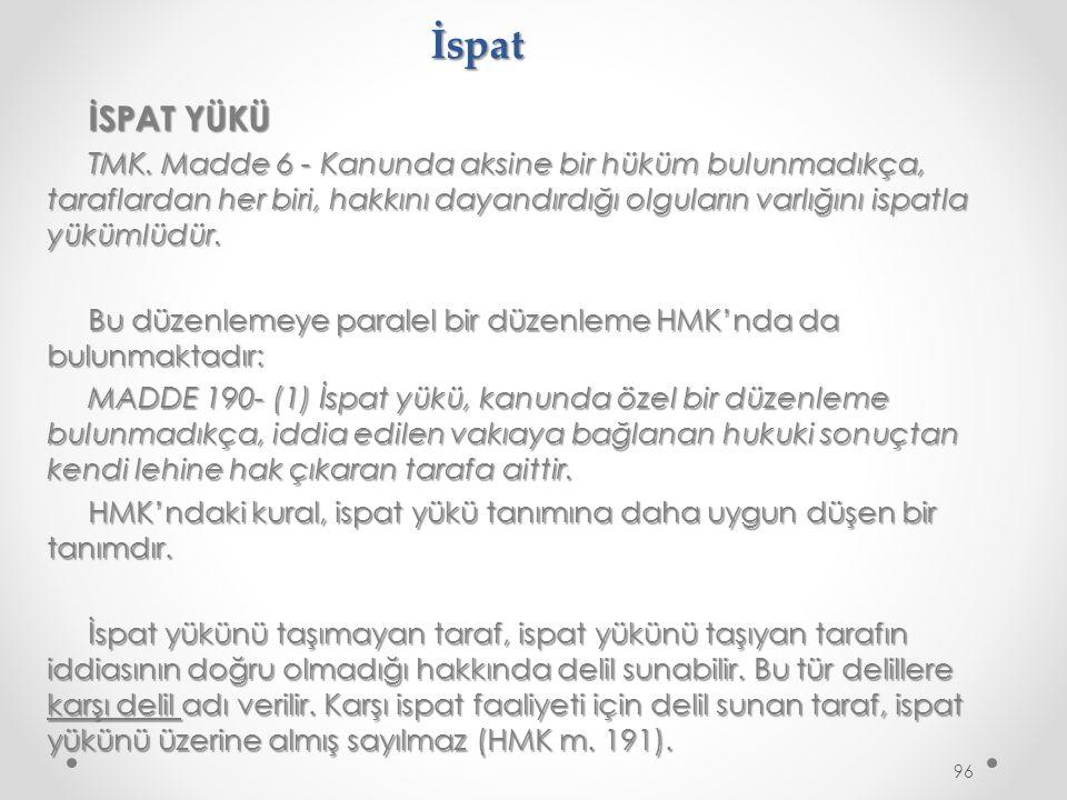 İspat İSPAT YÜKÜ.