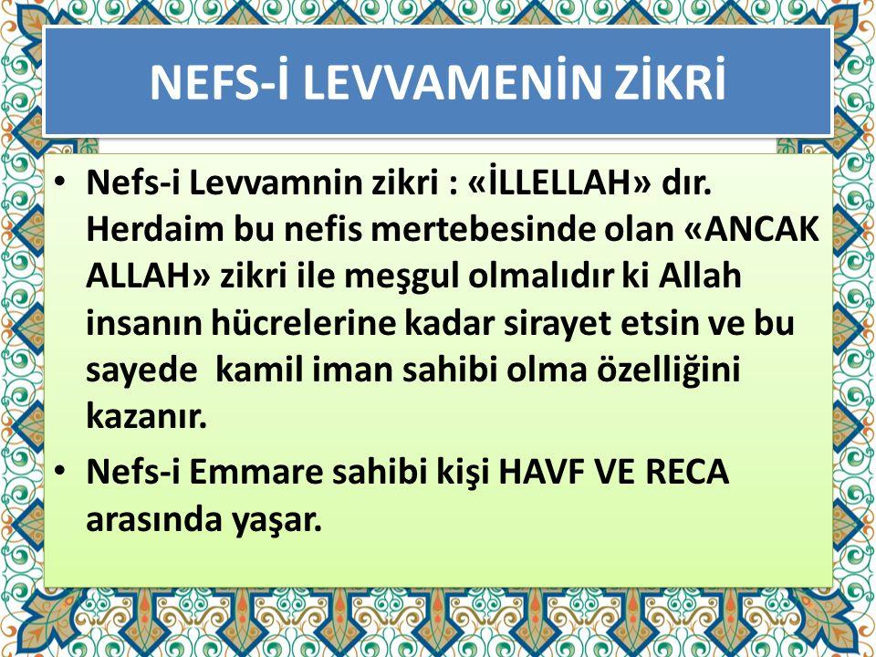 NEFS-İ LEVVAMENİN ZİKRİ