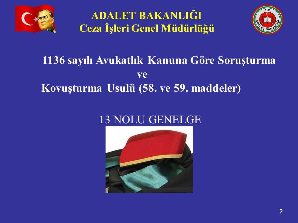 Kovuşturma Usulü (58. ve 59. maddeler) 13 NOLU GENELGE