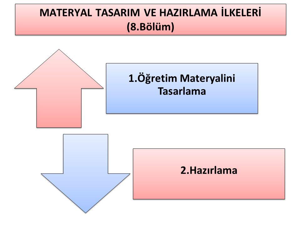 MATERYAL TASARIM VE HAZIRLAMA İLKELERİ (8.Bölüm)