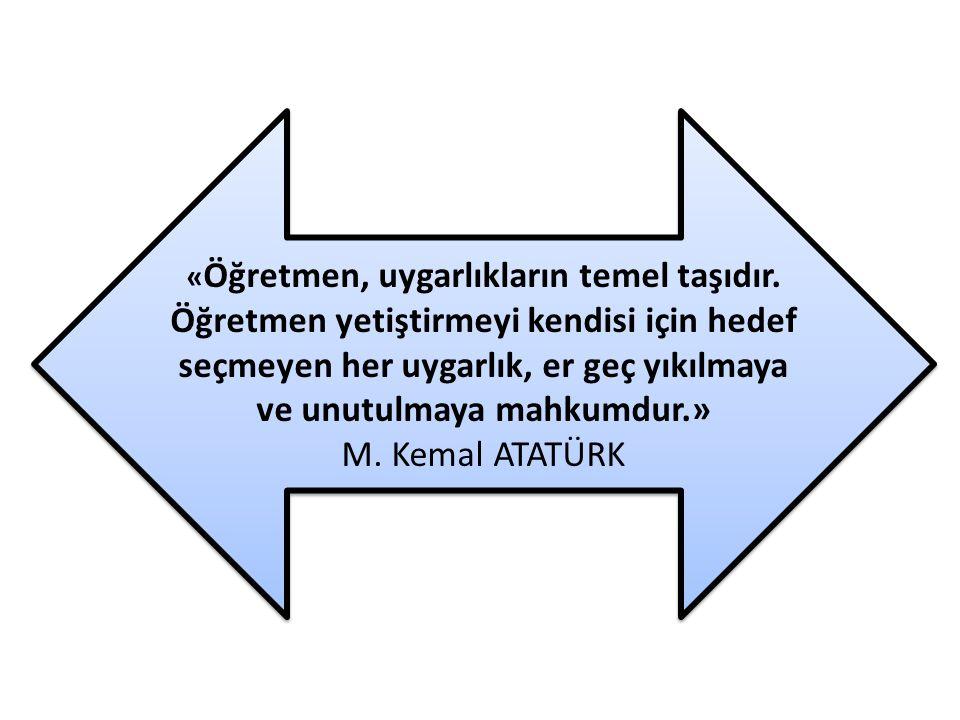 «Öğretmen, uygarlıkların temel taşıdır