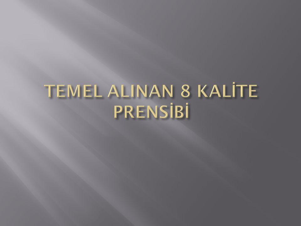 TEMEL ALINAN 8 KALİTE PRENSİBİ