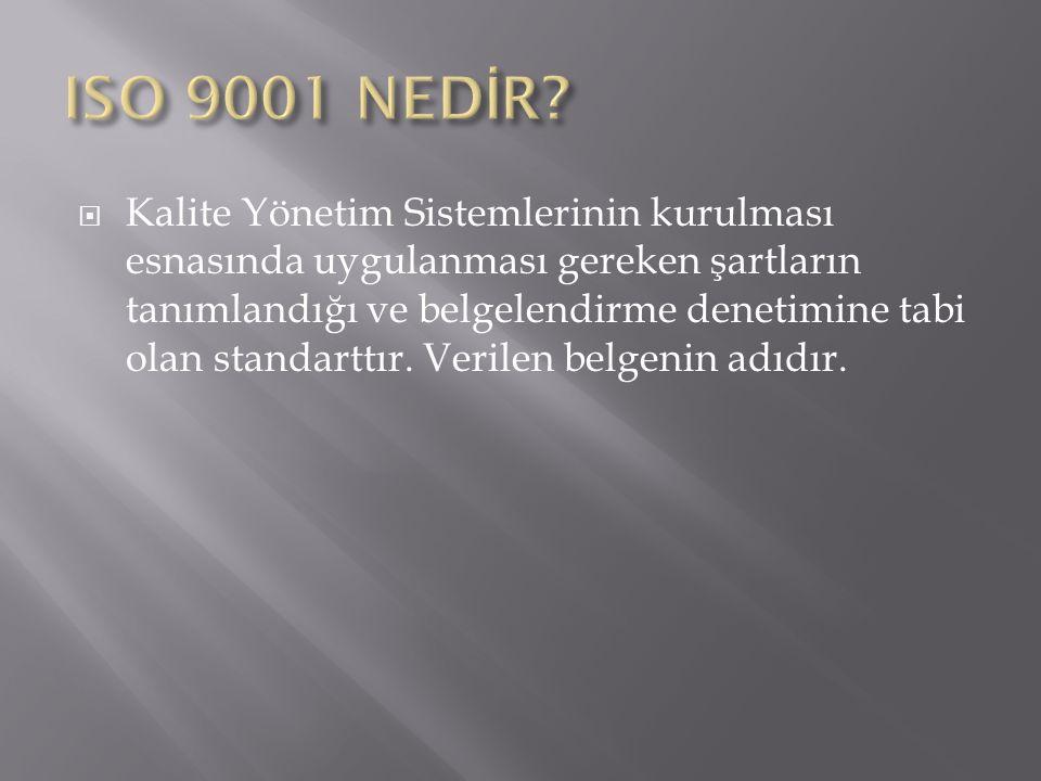 ISO 9001 NEDİR