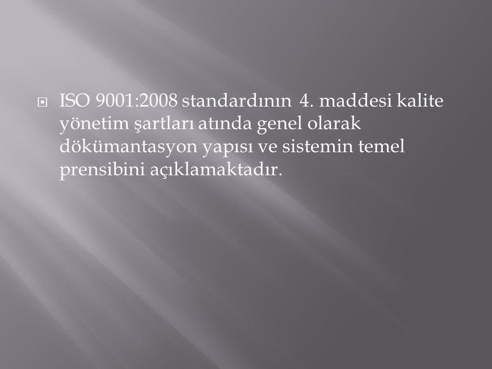 ISO 9001:2008 standardının 4.