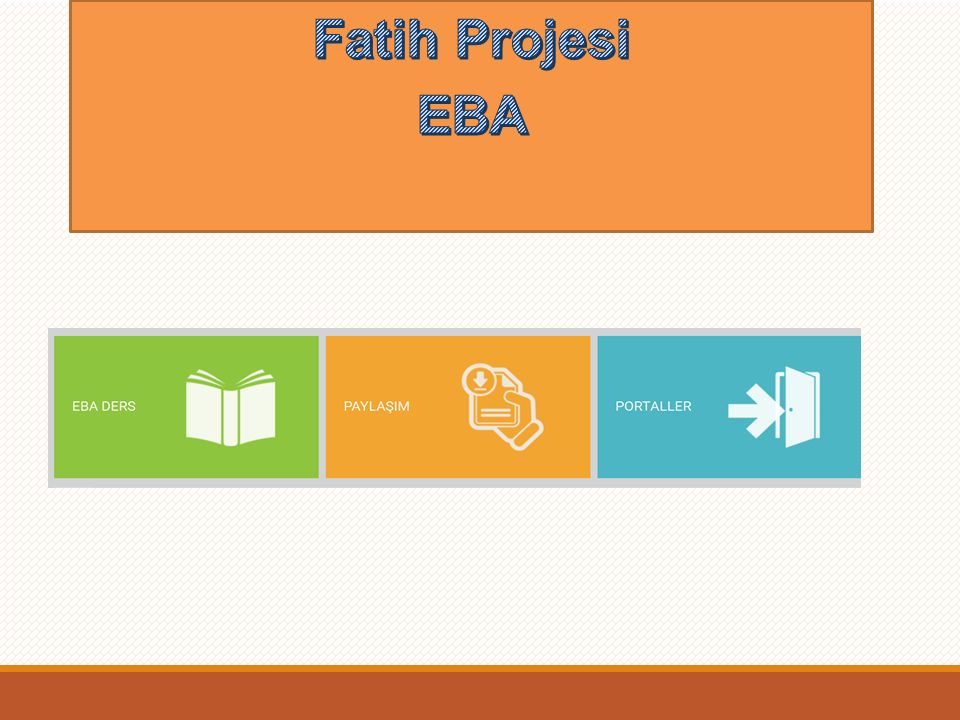Fatih Projesi EBA