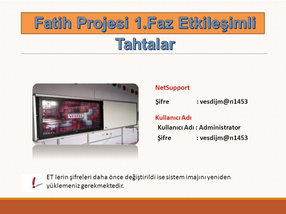 Fatih Projesi 1.Faz Etkileşimli Tahtalar