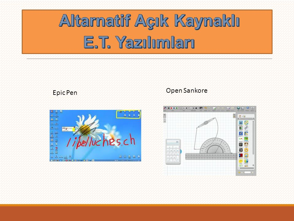 Altarnatif Açık Kaynaklı E.T. Yazılımları
