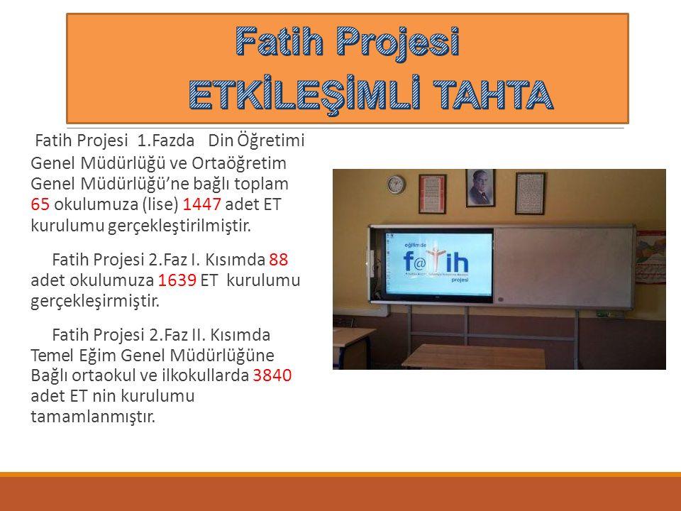 Fatih Projesi ETKİLEŞİMLİ TAHTA