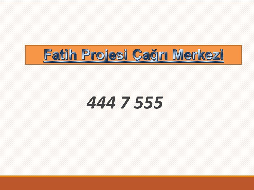 Fatih Projesi Çağrı Merkezi