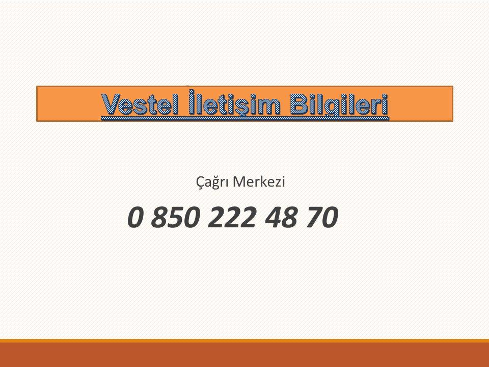Vestel İletişim Bilgileri