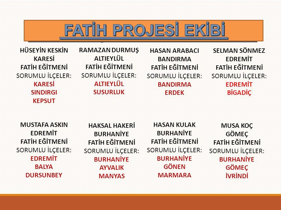 Fatih Projesi Ekibi- FATİH PROJESİ EKİBİ HÜSEYİN KESKİN KARESİ