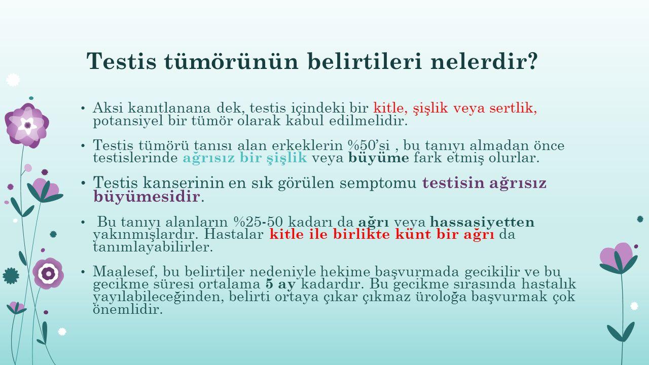 Testis tümörünün belirtileri nelerdir