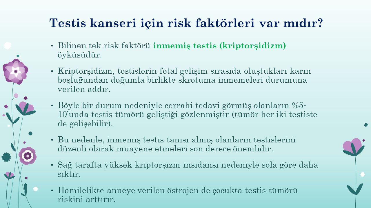 Testis kanseri için risk faktörleri var mıdır