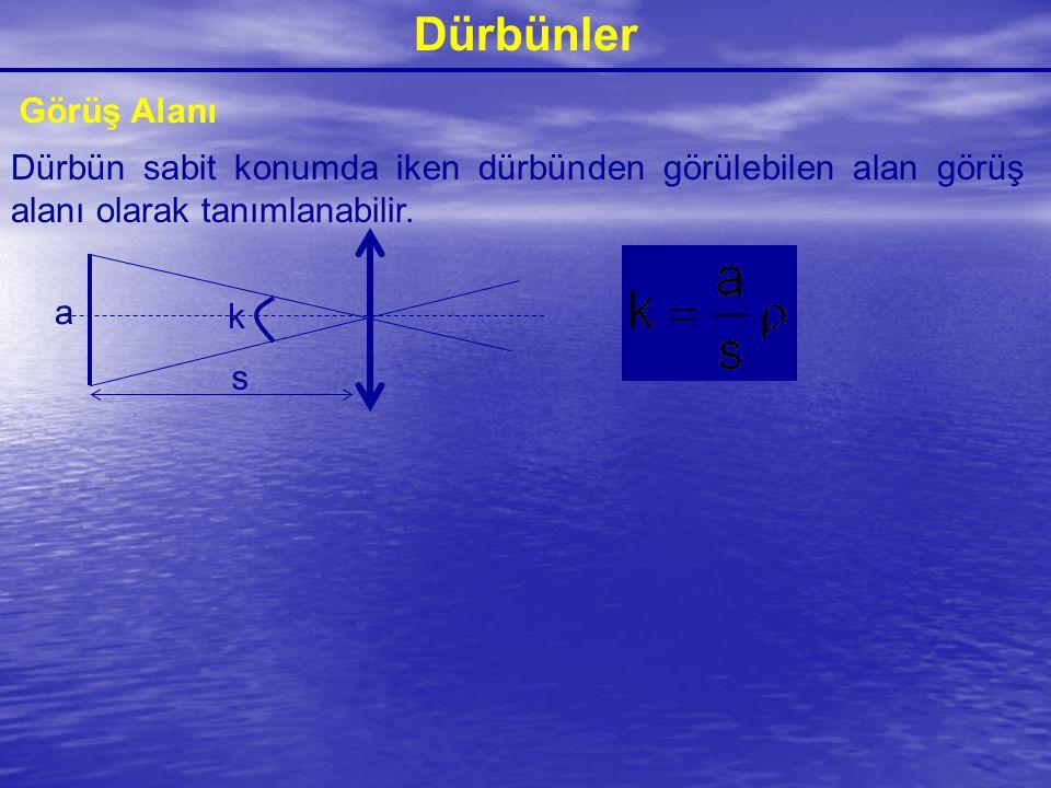Dürbünler Görüş Alanı. Dürbün sabit konumda iken dürbünden görülebilen alan görüş alanı olarak tanımlanabilir.