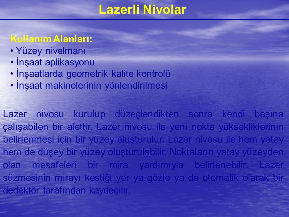 Lazerli Nivolar Kullanım Alanları: Yüzey nivelmanı İnşaat aplikasyonu