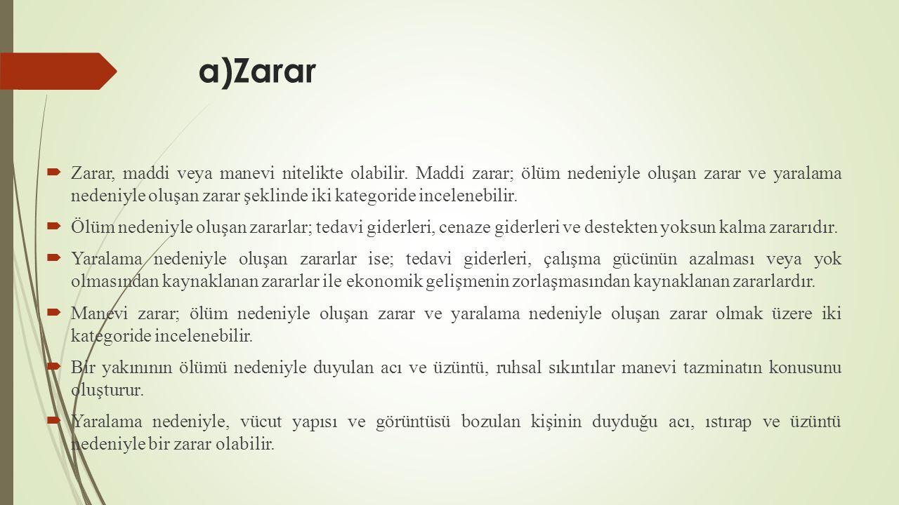 a)Zarar