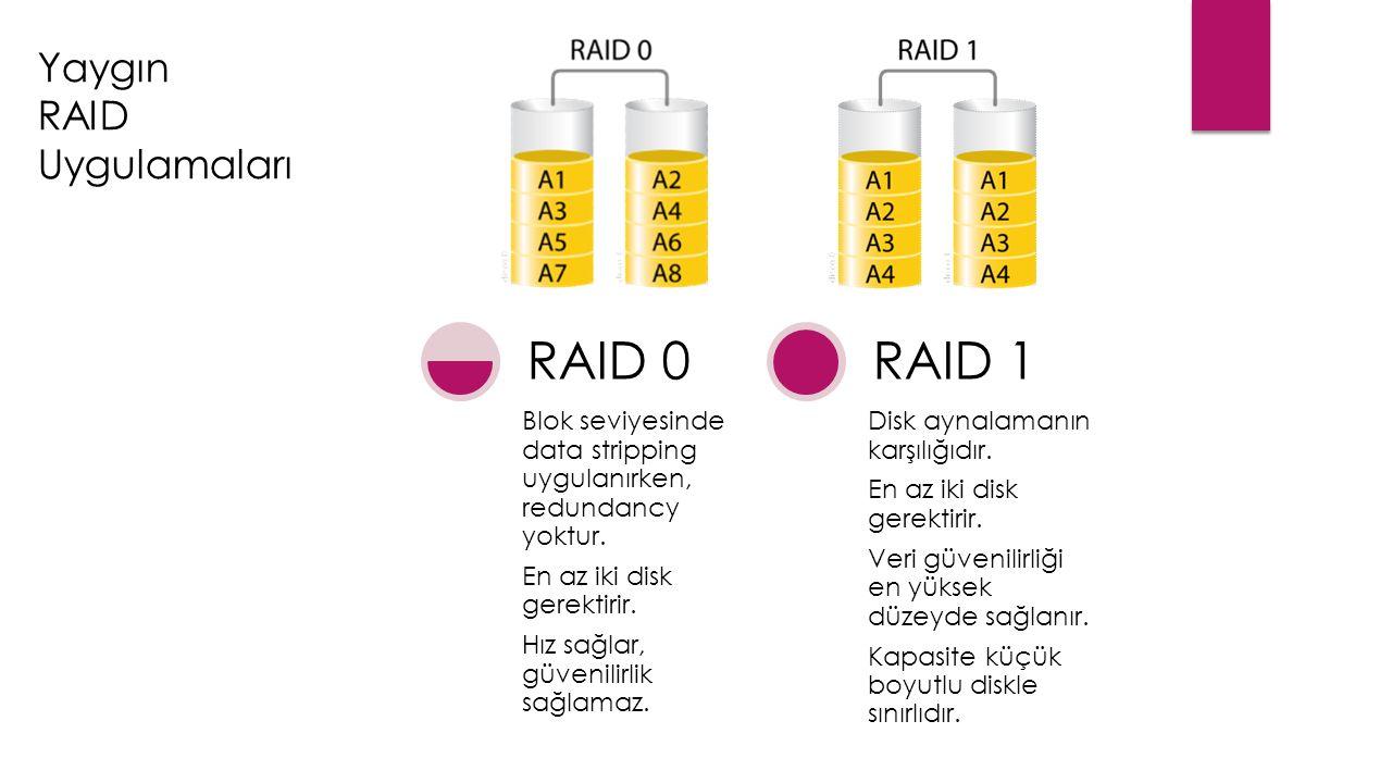 Yaygın RAID Uygulamaları