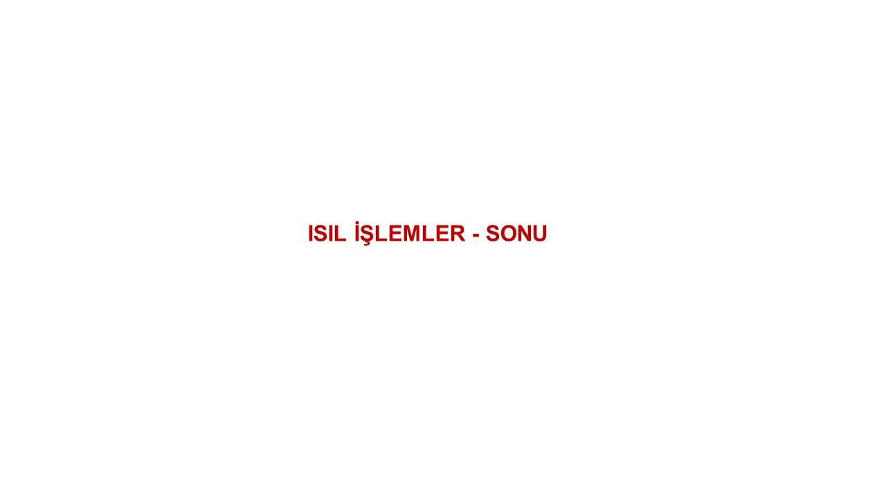 ISIL İŞLEMLER - SONU
