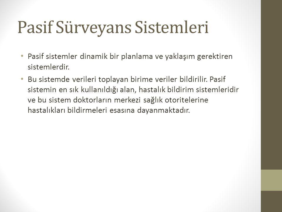 Pasif Sürveyans Sistemleri