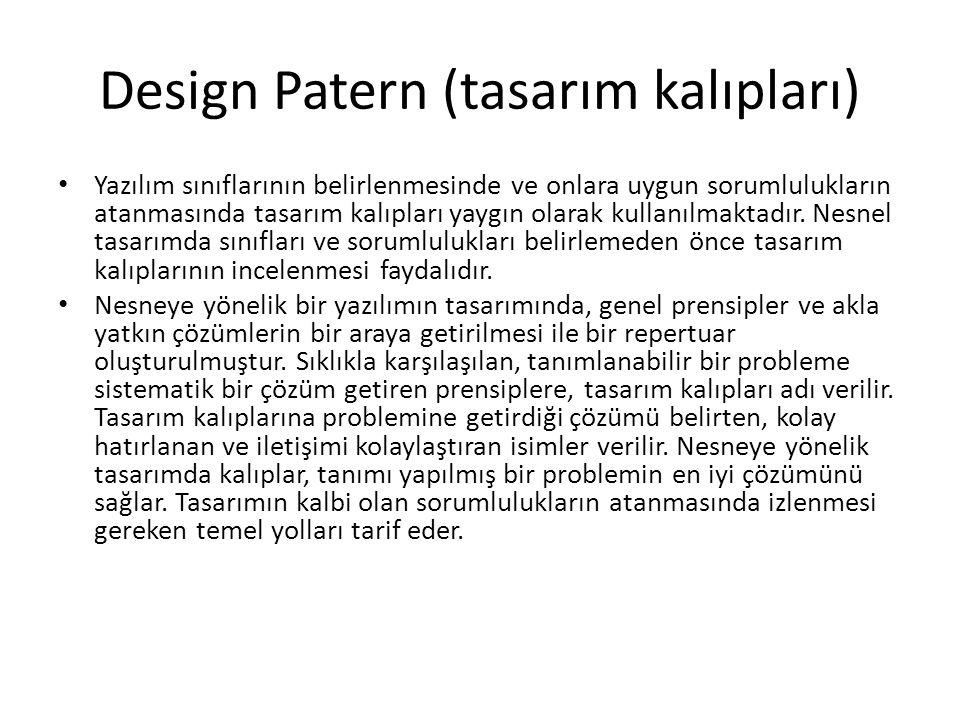 Design Patern (tasarım kalıpları)