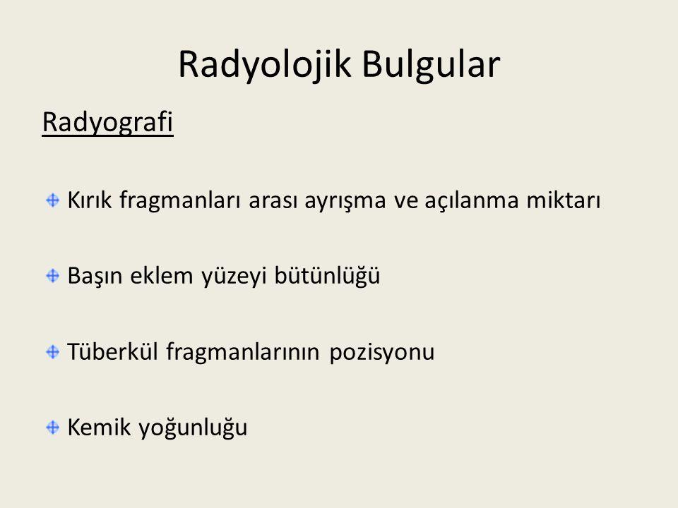 Radyolojik Bulgular Radyografi