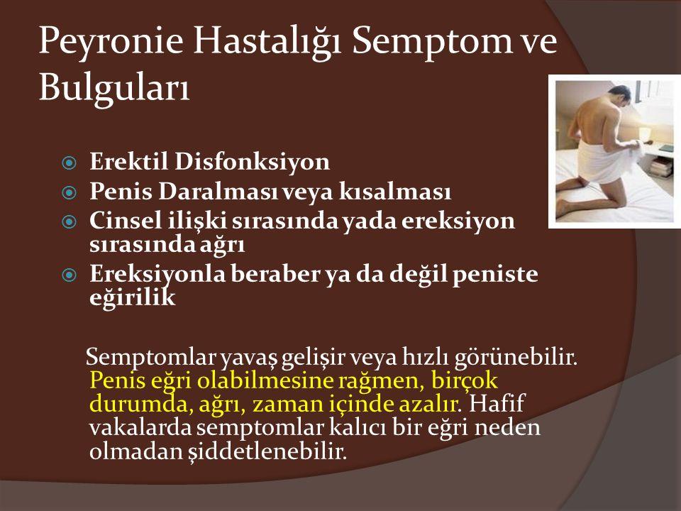 Peyronie Hastalığı Semptom ve Bulguları