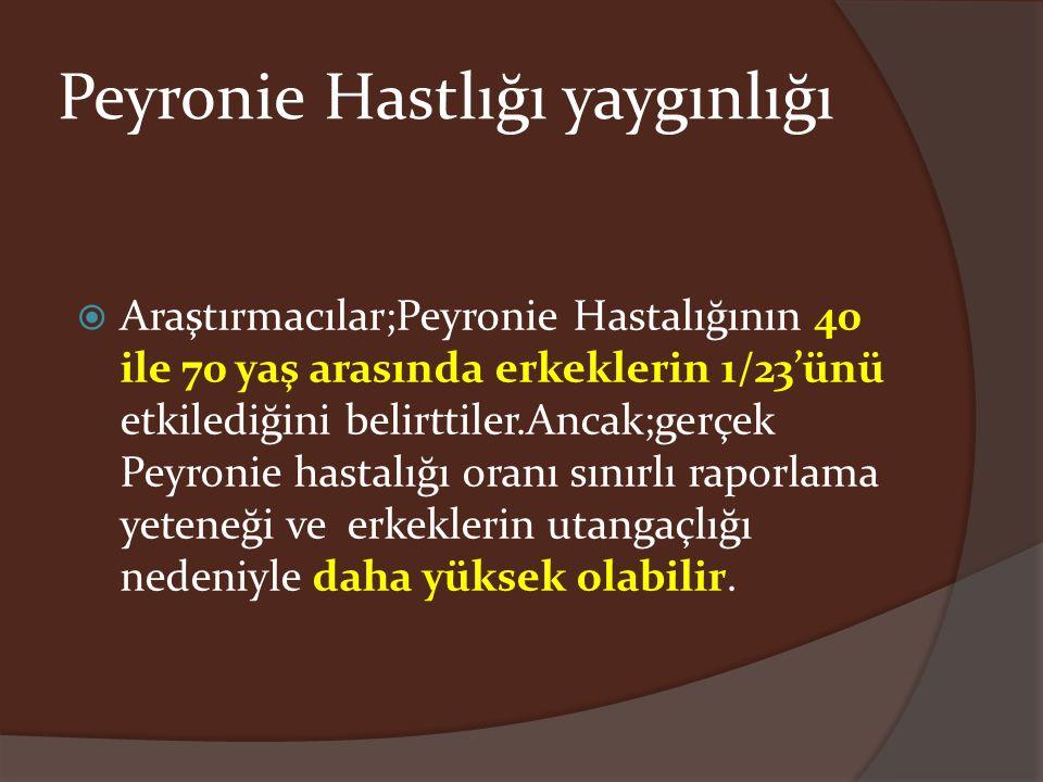 Peyronie Hastlığı yaygınlığı