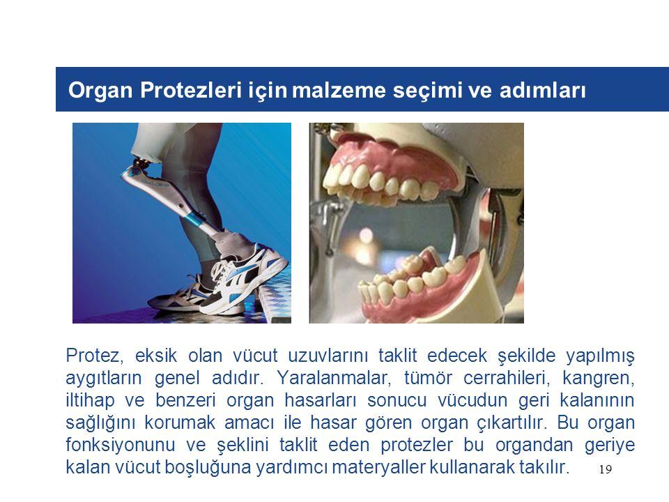 Organ Protezleri için malzeme seçimi ve adımları