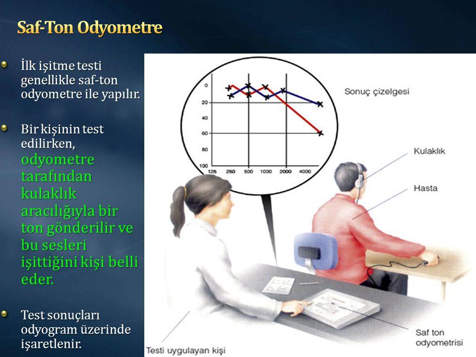 Saf-Ton Odyometre İlk işitme testi genellikle saf-ton odyometre ile yapılır.