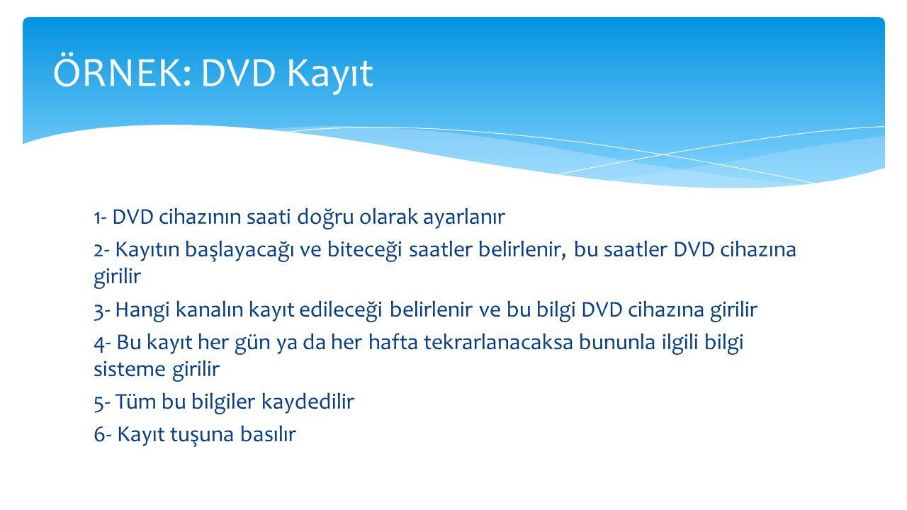 ÖRNEK: DVD Kayıt