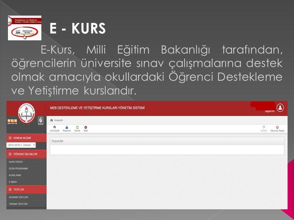 E - KURS
