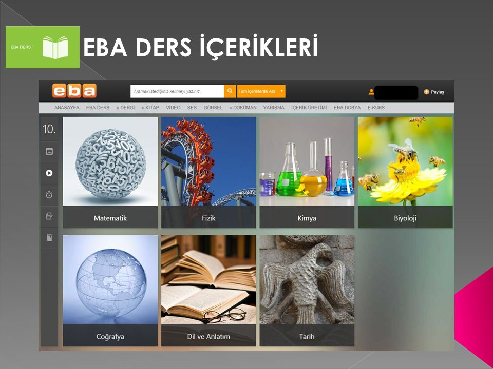 EBA DERS İÇERİKLERİ