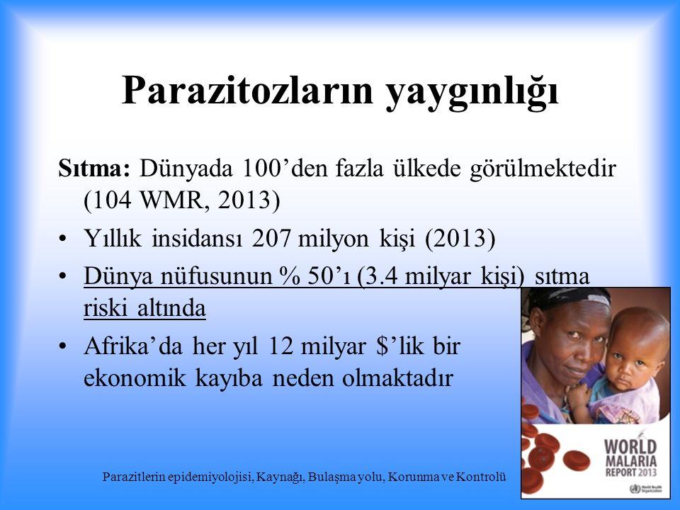 Parazitozların yaygınlığı
