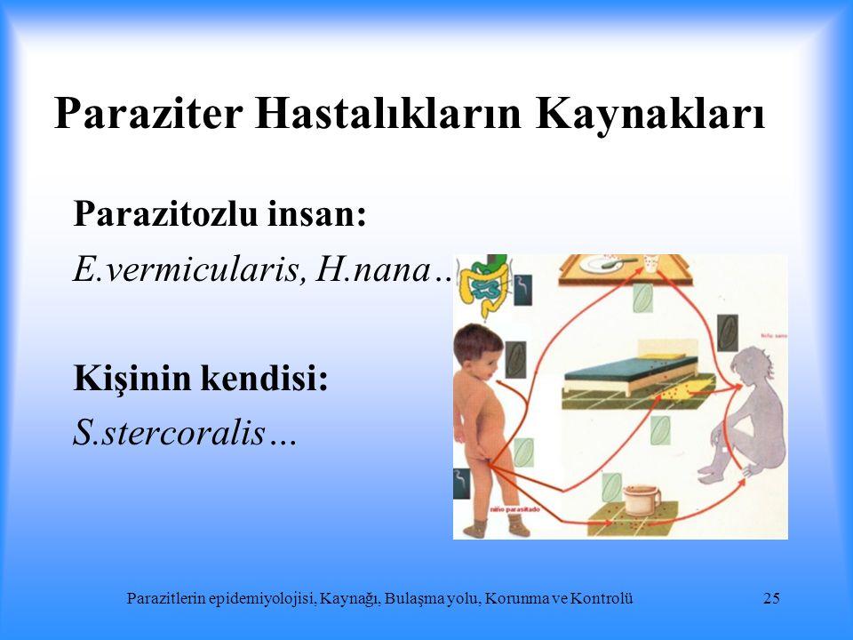 Paraziter Hastalıkların Kaynakları